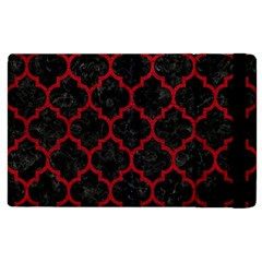 Tile1 Black Marble & Red Leather (r) Apple Ipad 3/4 Flip Case by trendistuff