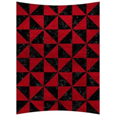Triangle1 Black Marble & Red Leather Back Support Cushion by trendistuff