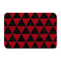 Triangle3 Black Marble & Red Leather Plate Mats by trendistuff