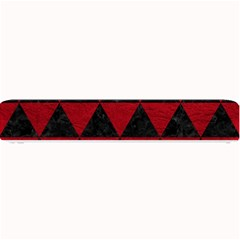 Triangle3 Black Marble & Red Leather Small Bar Mats by trendistuff