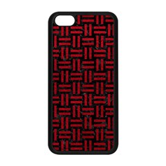 Woven1 Black Marble & Red Leather (r) Apple Iphone 5c Seamless Case (black) by trendistuff