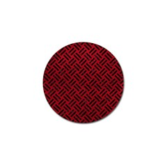 Woven2 Black Marble & Red Leather Golf Ball Marker (10 Pack) by trendistuff