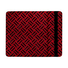 Woven2 Black Marble & Red Leather Samsung Galaxy Tab Pro 8 4  Flip Case by trendistuff