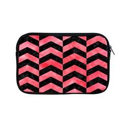 Chevron2 Black Marble & Red Watercolor Apple Macbook Pro 13  Zipper Case by trendistuff