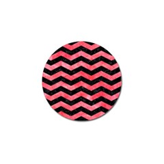 Chevron3 Black Marble & Red Watercolor Golf Ball Marker (10 Pack) by trendistuff