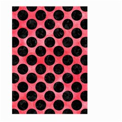 Circles2 Black Marble & Red Watercolor Large Garden Flag (two Sides) by trendistuff
