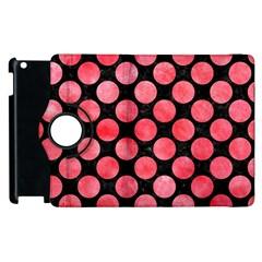 Circles2 Black Marble & Red Watercolor (r) Apple Ipad 2 Flip 360 Case by trendistuff