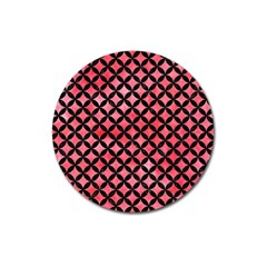 Circles3 Black Marble & Red Watercolor Magnet 3  (round) by trendistuff