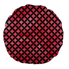 Circles3 Black Marble & Red Watercolor Large 18  Premium Flano Round Cushions by trendistuff