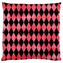 Diamond1 Black Marble & Red Watercolor Standard Flano Cushion Case (two Sides) by trendistuff