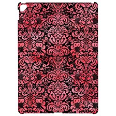 Damask2 Black Marble & Red Watercolor (r) Apple Ipad Pro 12 9   Hardshell Case by trendistuff