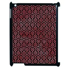 Hexagon1 Black Marble & Red Watercolor (r) Apple Ipad 2 Case (black) by trendistuff