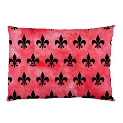 Royal1 Black Marble & Red Watercolor (r) Pillow Case by trendistuff