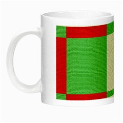 Fabric Christmas Colors Bright Night Luminous Mugs by Onesevenart
