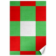 Fabric Christmas Colors Bright Canvas 24  X 36  by Onesevenart