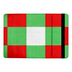Fabric Christmas Colors Bright Samsung Galaxy Tab Pro 10 1  Flip Case by Onesevenart
