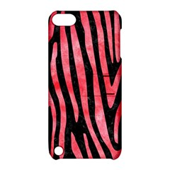 Skin4 Black Marble & Red Watercolor Apple Ipod Touch 5 Hardshell Case With Stand by trendistuff