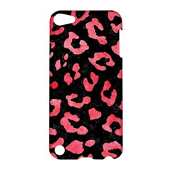 Skin5 Black Marble & Red Watercolor Apple Ipod Touch 5 Hardshell Case by trendistuff