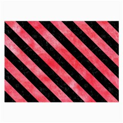 Stripes3 Black Marble & Red Watercolor Large Glasses Cloth by trendistuff