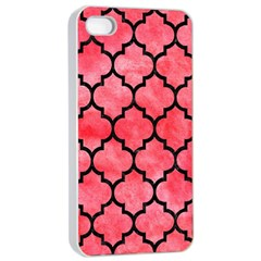 Tile1 Black Marble & Red Watercolor Apple Iphone 4/4s Seamless Case (white) by trendistuff