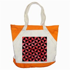 Triangle1 Black Marble & Red Watercolor Accent Tote Bag by trendistuff