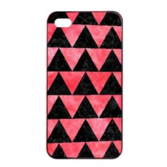 Triangle2 Black Marble & Red Watercolor Apple Iphone 4/4s Seamless Case (black) by trendistuff