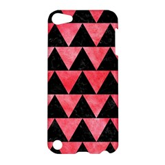 Triangle2 Black Marble & Red Watercolor Apple Ipod Touch 5 Hardshell Case by trendistuff