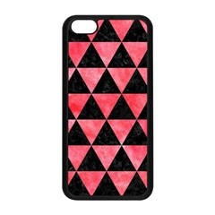 Triangle3 Black Marble & Red Watercolor Apple Iphone 5c Seamless Case (black) by trendistuff