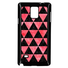 Triangle3 Black Marble & Red Watercolor Samsung Galaxy Note 4 Case (black) by trendistuff