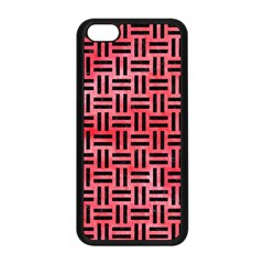 Woven1 Black Marble & Red Watercolor Apple Iphone 5c Seamless Case (black) by trendistuff
