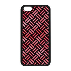 Woven2 Black Marble & Red Watercolor (r) Apple Iphone 5c Seamless Case (black) by trendistuff