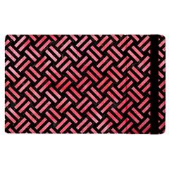 Woven2 Black Marble & Red Watercolor (r) Apple Ipad Pro 9 7   Flip Case by trendistuff