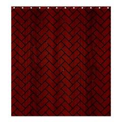 Brick2 Black Marble & Red Wood Shower Curtain 66  X 72  (large)  by trendistuff