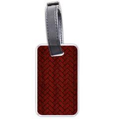 Brick2 Black Marble & Red Wood Luggage Tags (one Side)  by trendistuff