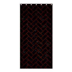 Brick2 Black Marble & Red Wood (r) Shower Curtain 36  X 72  (stall)  by trendistuff