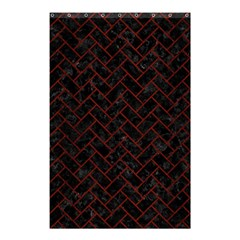 Brick2 Black Marble & Red Wood (r) Shower Curtain 48  X 72  (small)  by trendistuff