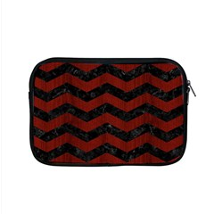 Chevron3 Black Marble & Red Wood Apple Macbook Pro 15  Zipper Case by trendistuff