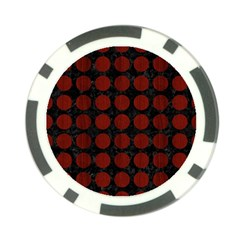 Circles1 Black Marble & Red Wood (r) Poker Chip Card Guard (10 Pack) by trendistuff