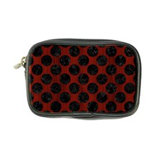 Circles2 Black Marble & Red Wood Coin Purse by trendistuff