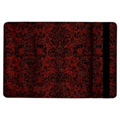 Damask2 Black Marble & Red Wood Ipad Air Flip by trendistuff