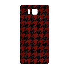 Houndstooth1 Black Marble & Red Wood Samsung Galaxy Alpha Hardshell Back Case by trendistuff