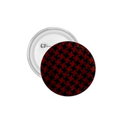 Houndstooth2 Black Marble & Red Wood 1 75  Buttons by trendistuff