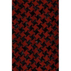 Houndstooth2 Black Marble & Red Wood 5 5  X 8 5  Notebooks by trendistuff