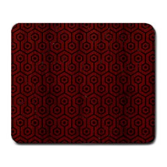 Hexagon1 Black Marble & Red Wood Large Mousepads by trendistuff