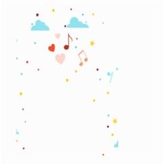 Music Cloud Heart Love Valentine Star Polka Dots Rainbow Mask Sky Small Garden Flag (two Sides) by Alisyart