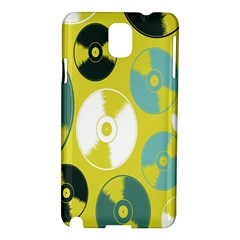 Streaming Forces Music Disc Samsung Galaxy Note 3 N9005 Hardshell Case by Alisyart