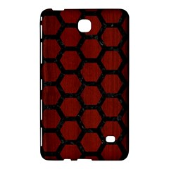 Hexagon2 Black Marble & Red Wood Samsung Galaxy Tab 4 (8 ) Hardshell Case  by trendistuff