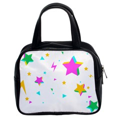 Star Triangle Space Rainbow Classic Handbags (2 Sides) by Alisyart