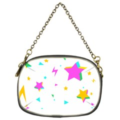Star Triangle Space Rainbow Chain Purses (two Sides)  by Alisyart
