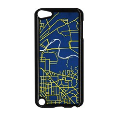 Map Art City Linbe Yellow Blue Apple Ipod Touch 5 Case (black) by Alisyart